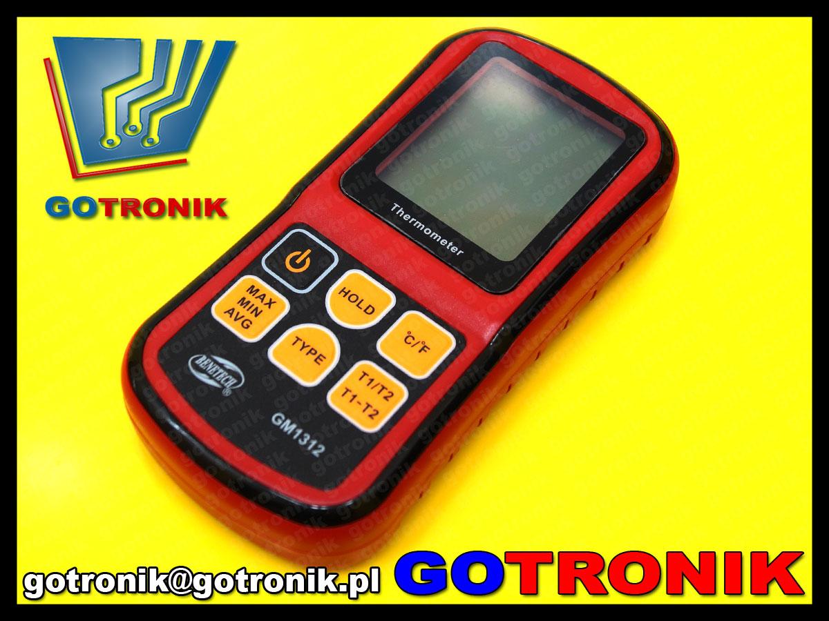 Termometr cyfrowy GM1312 Benetech termopara J K T E N R