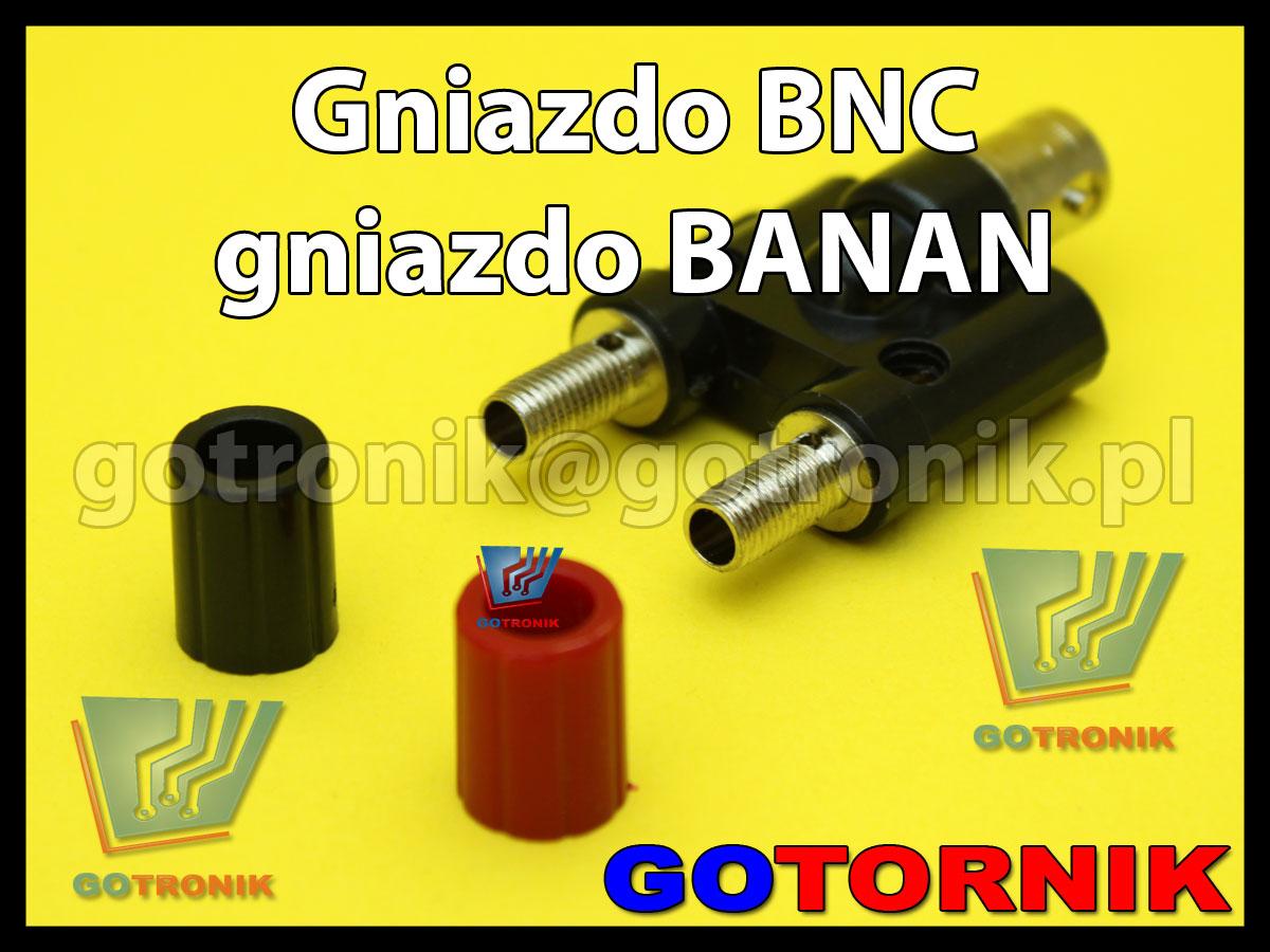 gniazdo BNC na 2x gniazdo banan