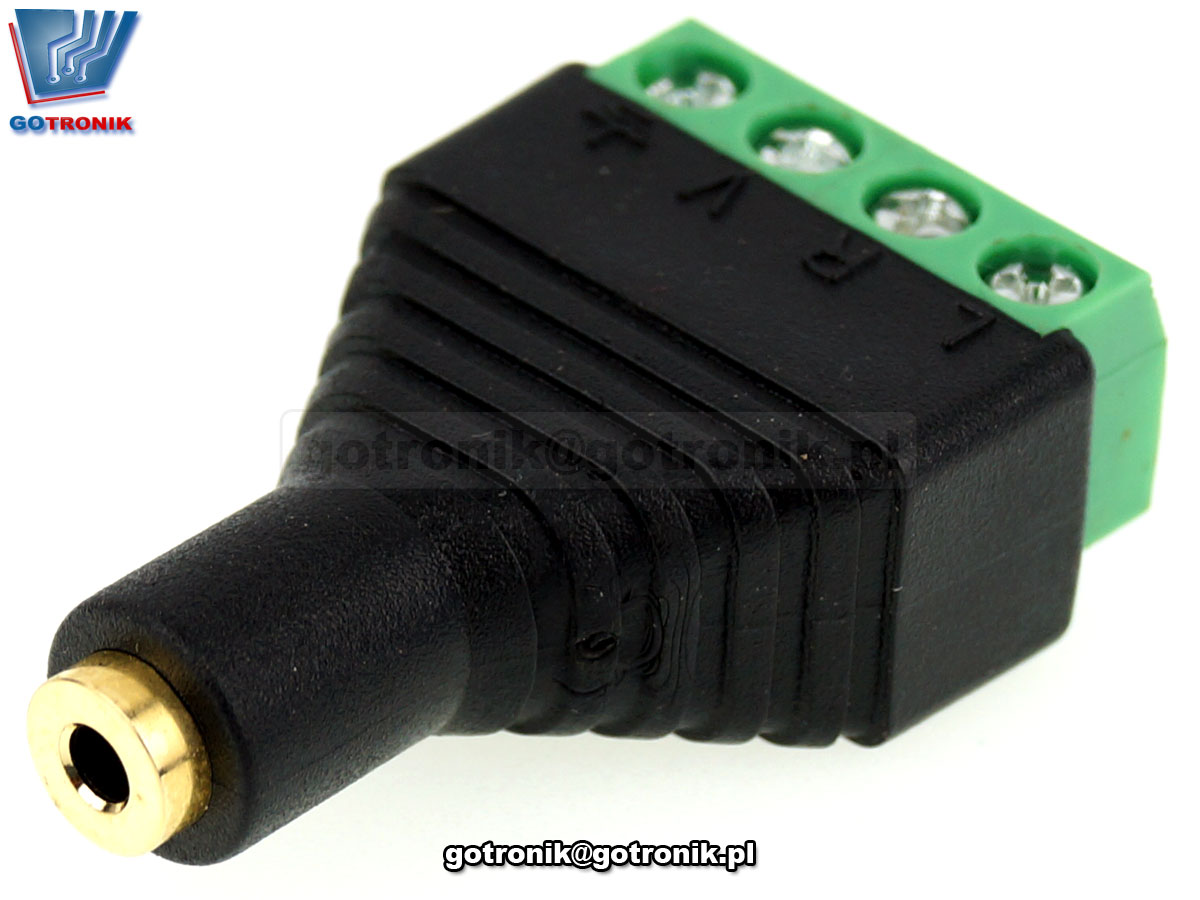 Gniazdo microjack 2,5mm 4 pin z szybkozłączem Z278