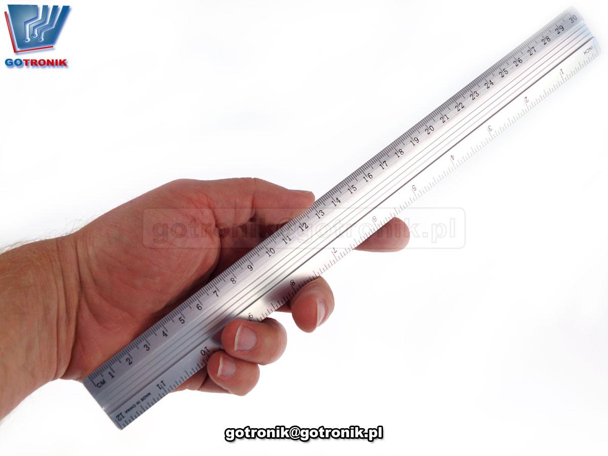 Linijka aluminiowa 30cm GOT-028