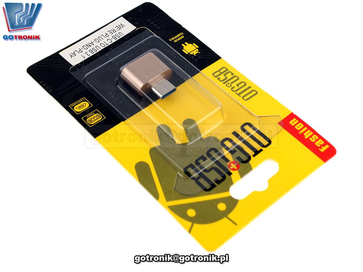 Adapter / przejściówka OTG USB-C - USB-A 3.1 GOT-034