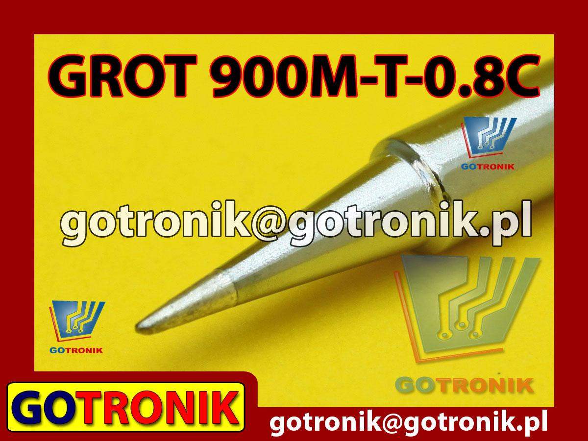 Grot 900M-T-LB ścięty 0,8mm Zhaoxin 936a 936d 852D 898d 868 d Aoyue PT WEP Yihua