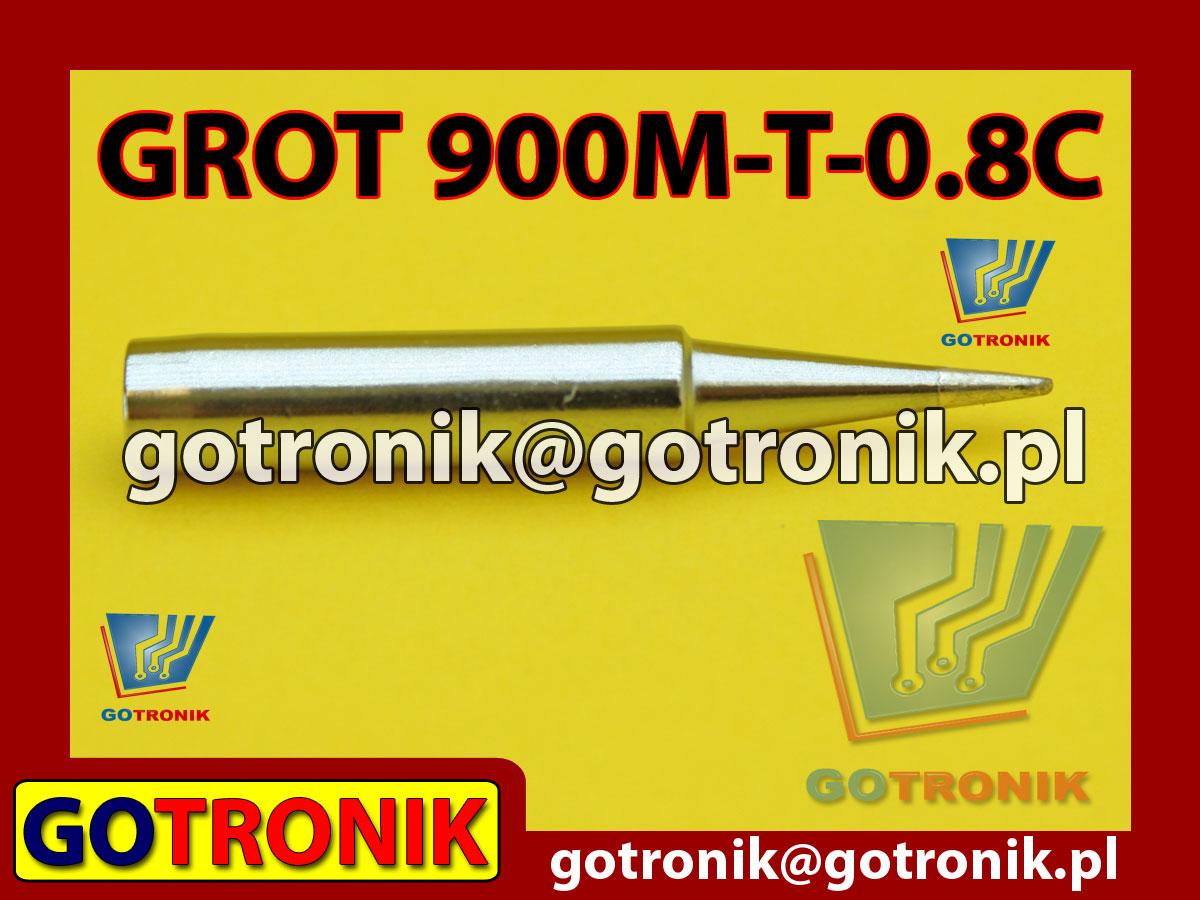 Grot 900M-T-0.8C ścięty 0,8mm Zhaoxin 936a 936d 852D 898d 868 d Aoyue PT WEP Yihua