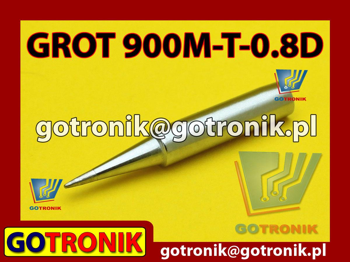 Grot 900M-T-0.8D płaski 0,8mm Zhaoxin 936a 936d 852D 898d 868 d Aoyue PT WEP Yihua