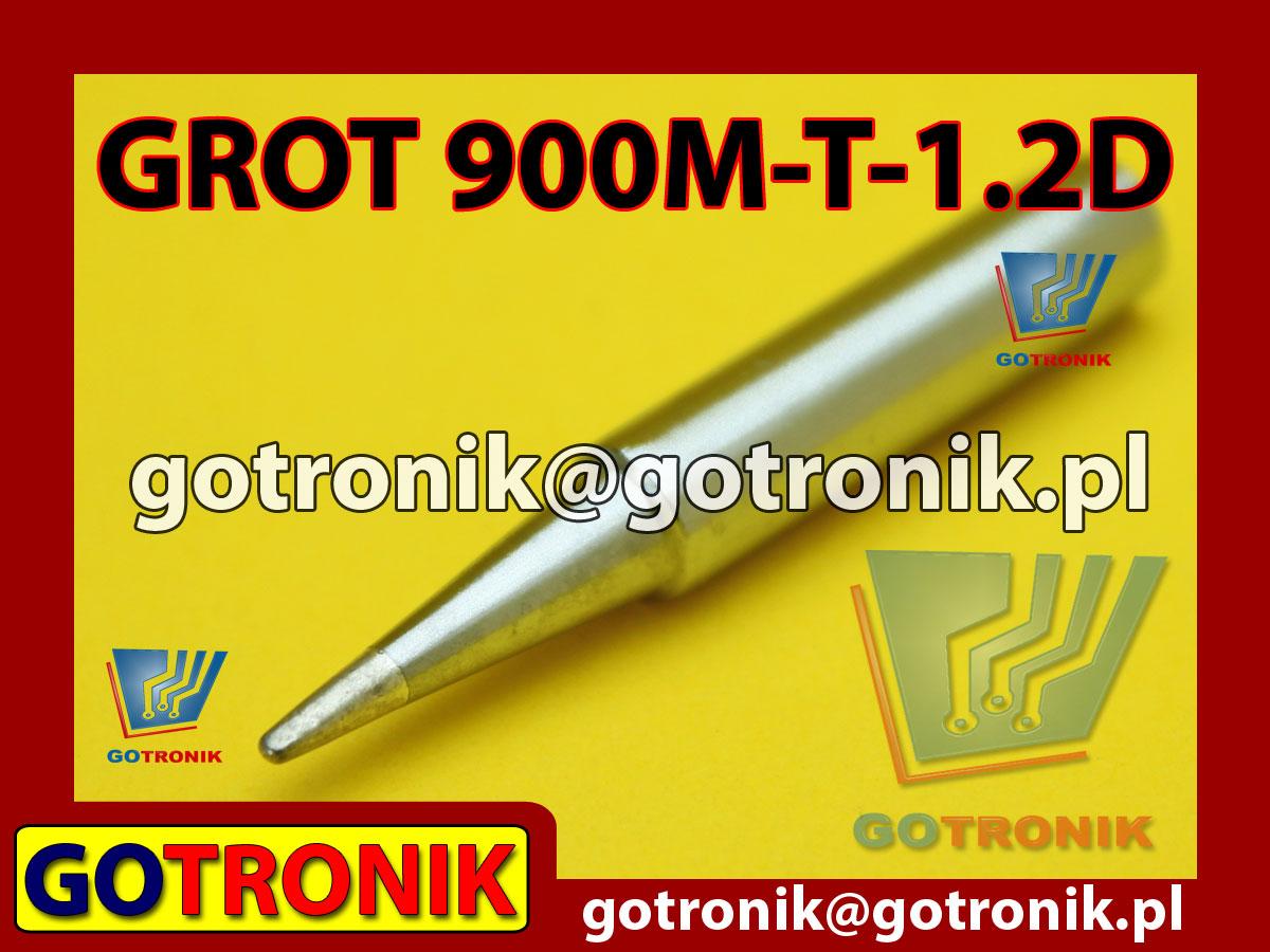Grot 900M-T-1.2D płaski 1,2mm Zhaoxin 936a 936d 852D 898d 868 d Aoyue PT WEP Yihua