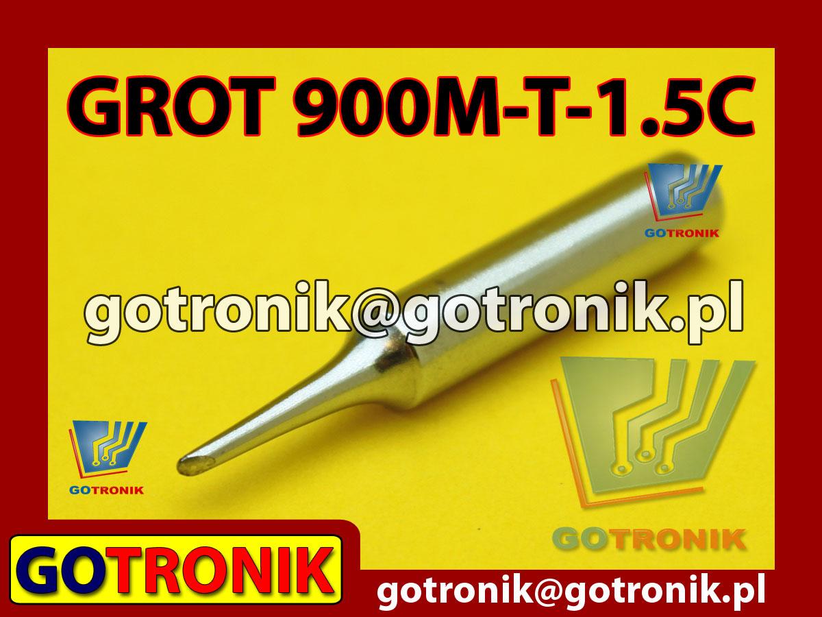 Grot 900M-T-1C ścięty 1,5mm Zhaoxin 936a 936d 852D 898d 868 d Aoyue PT WEP Yihua