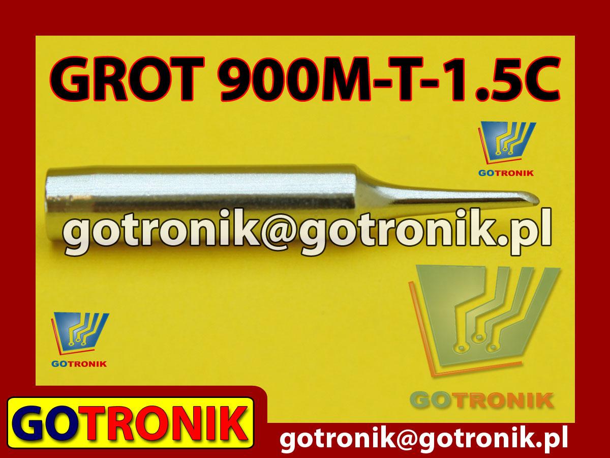 Grot 900M-T-1.5C ścięty 1,5mm Zhaoxin 936a 936d 852D 898d 868 d Aoyue PT WEP Yihua