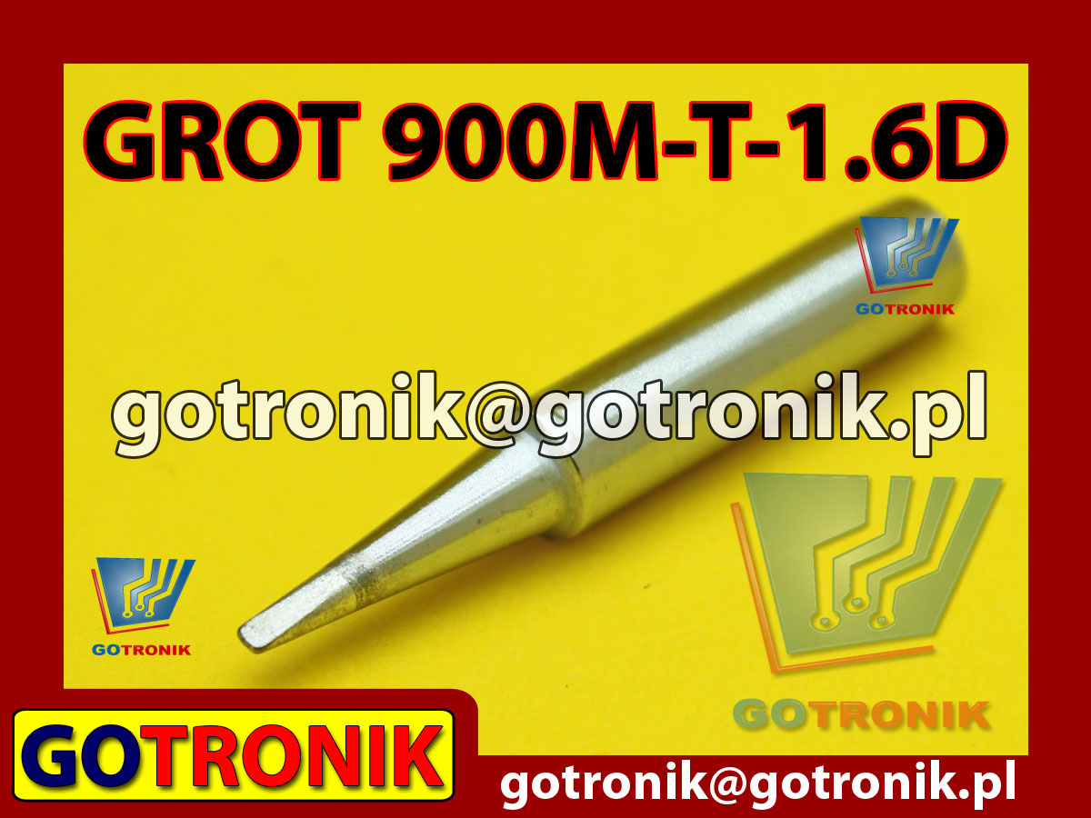 Grot 900M-T-1.6D płaski 1,6mm Zhaoxin 936a 936d 852D 898d 868 d Aoyue PT WEP Yihua