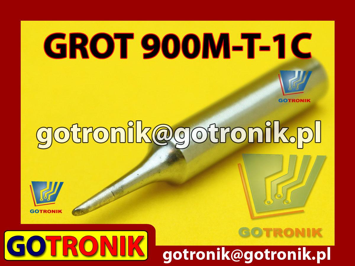Grot 900M-T-1C ścięty 1,0mm Zhaoxin 936a 936d 852D 898d 868 d Aoyue PT WEP Yihua