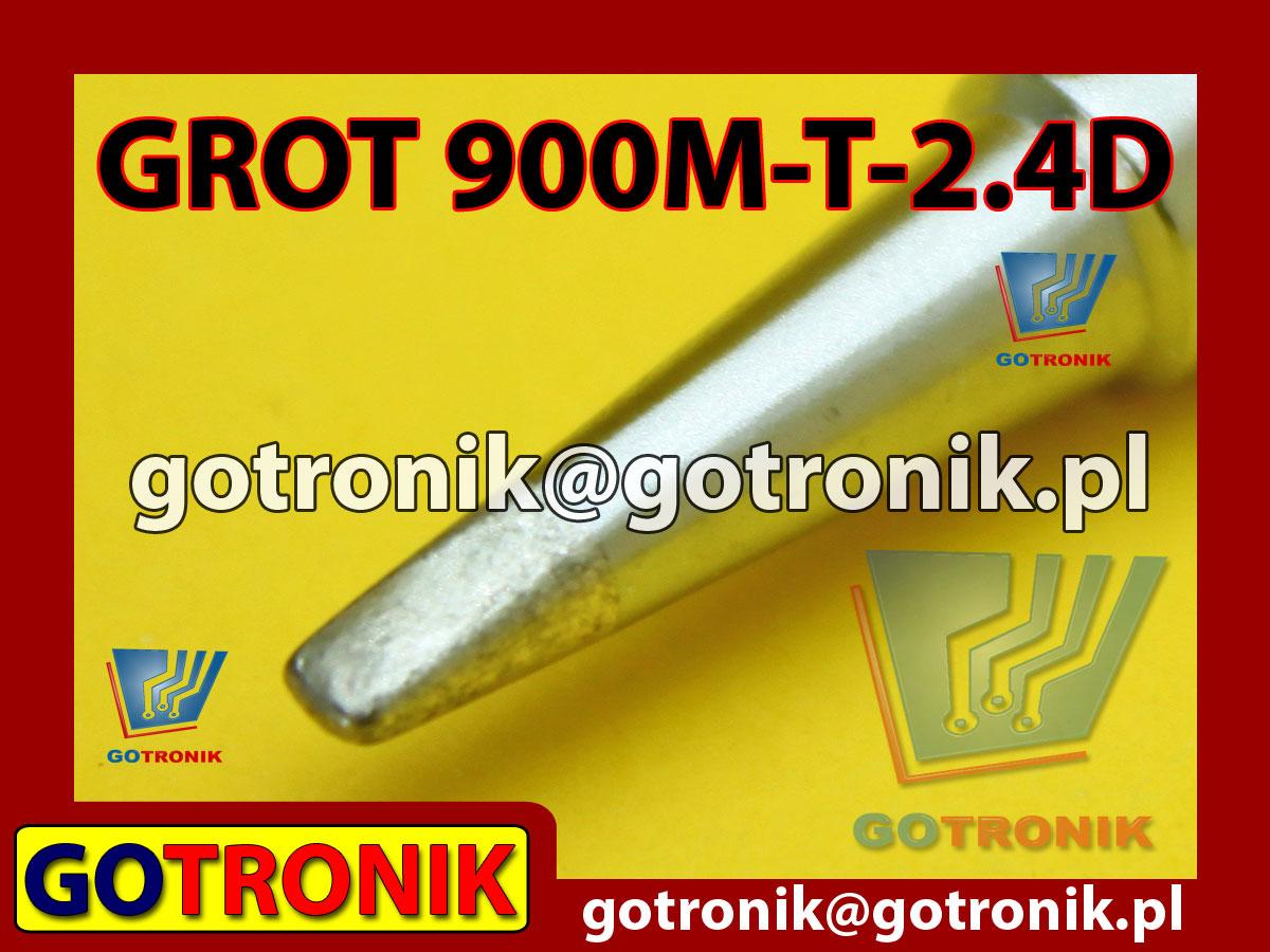 Grot 900M-T-2.4D płaski 2,4mm Zhaoxin 936a 936d 852D 898d 868 d Aoyue PT WEP Yihua