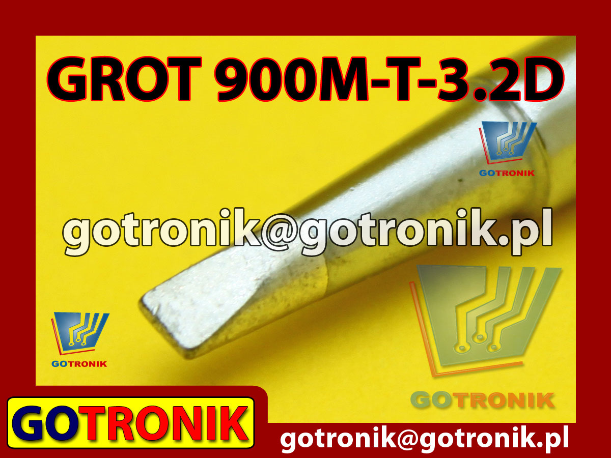 Grot 900M-T-3.2D płaski 3,2mm Zhaoxin 936a 936d 852D 898d 868 d Aoyue PT WEP Yihua