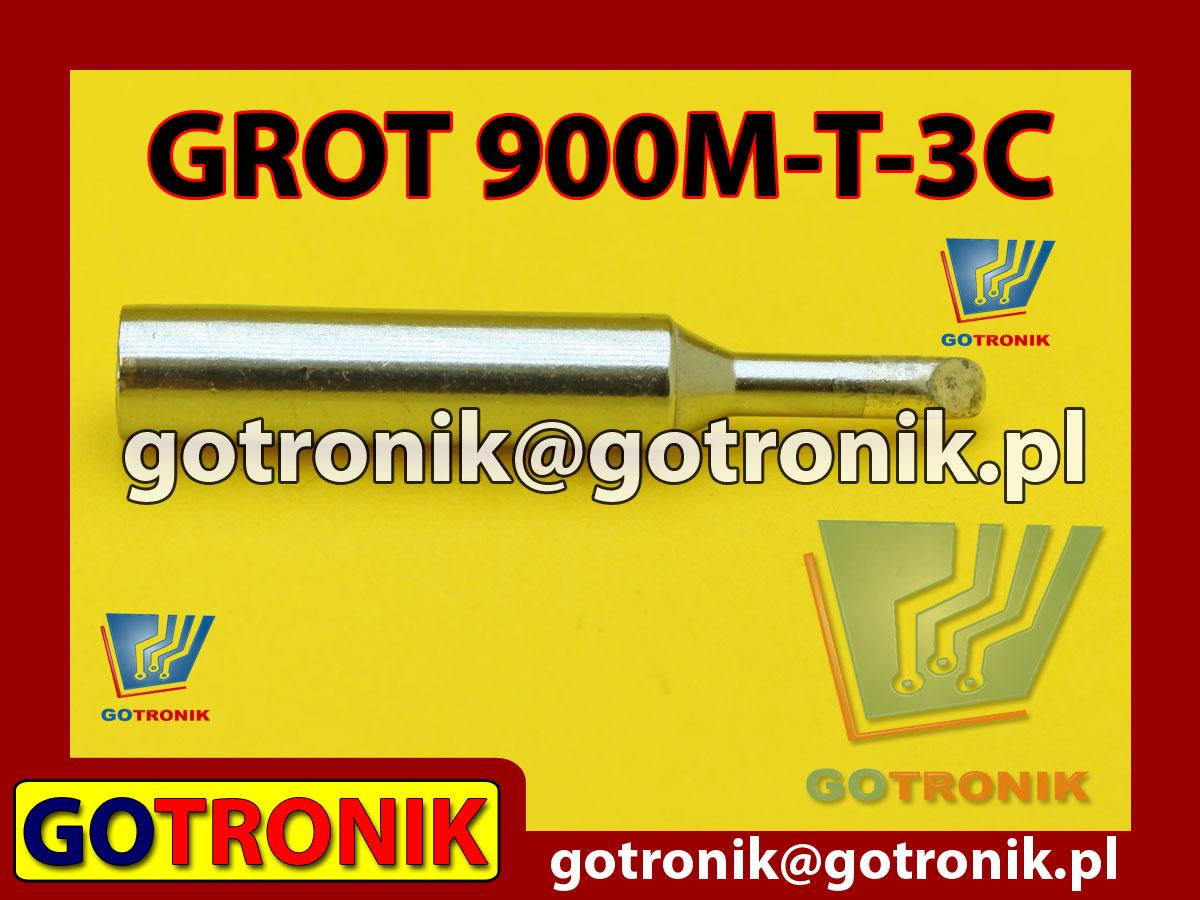 Grot 900M-T-3C ścięty 3,0mm Zhaoxin 936a 936d 852D 898d 868 d Aoyue PT WEP Yihua
