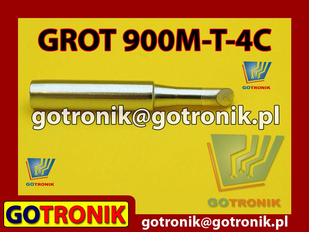 Grot 900M-T-4C ścięty 4,0mm Zhaoxin 936a 936d 852D 898d 868 d Aoyue PT WEP Yihua