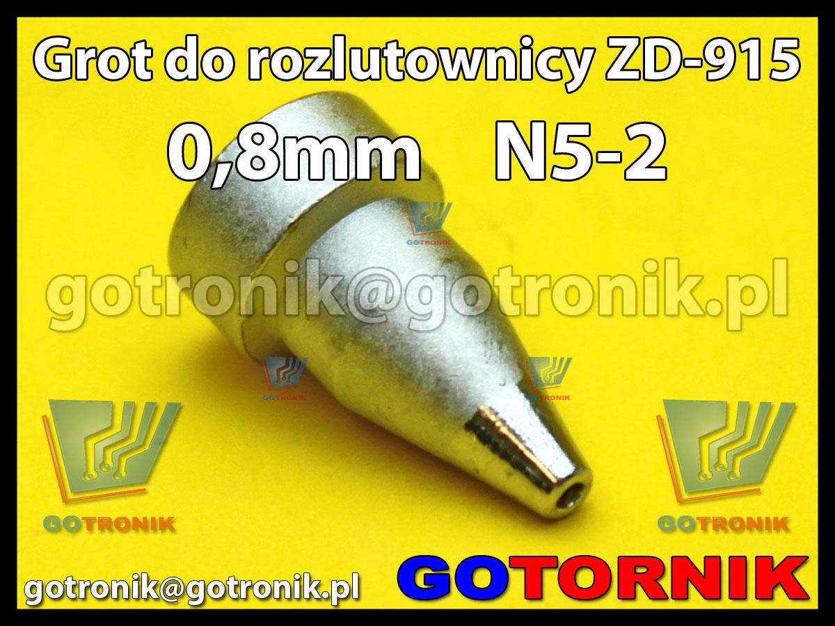 Grot dysza N5-2 0,8mm do rozlutownicy ZD917 ZD915 ZD ZhongDi