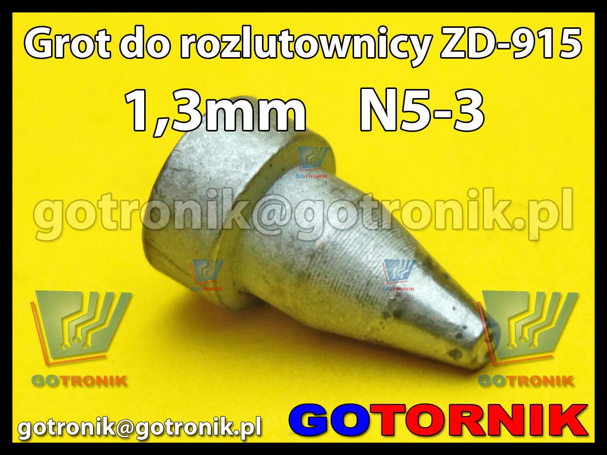 Grot dysza N5-3 1,3mm do rozlutownicy ZD917 ZD915 ZD ZhongDi