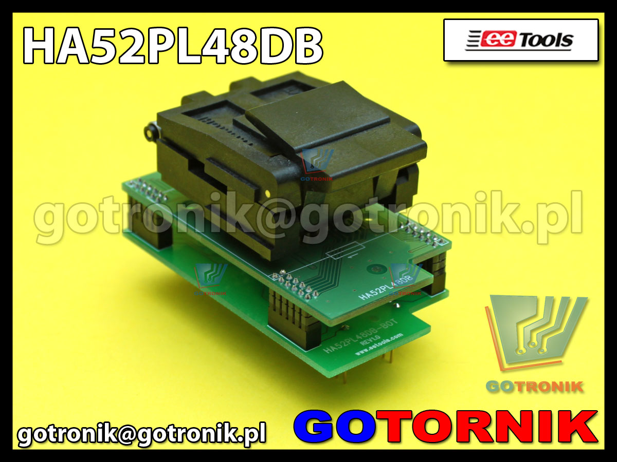 Adapter PLCC52 to DIP48 PA52-48A-1/HA52PL48D do programatorów ChipMax2 i TopMax2