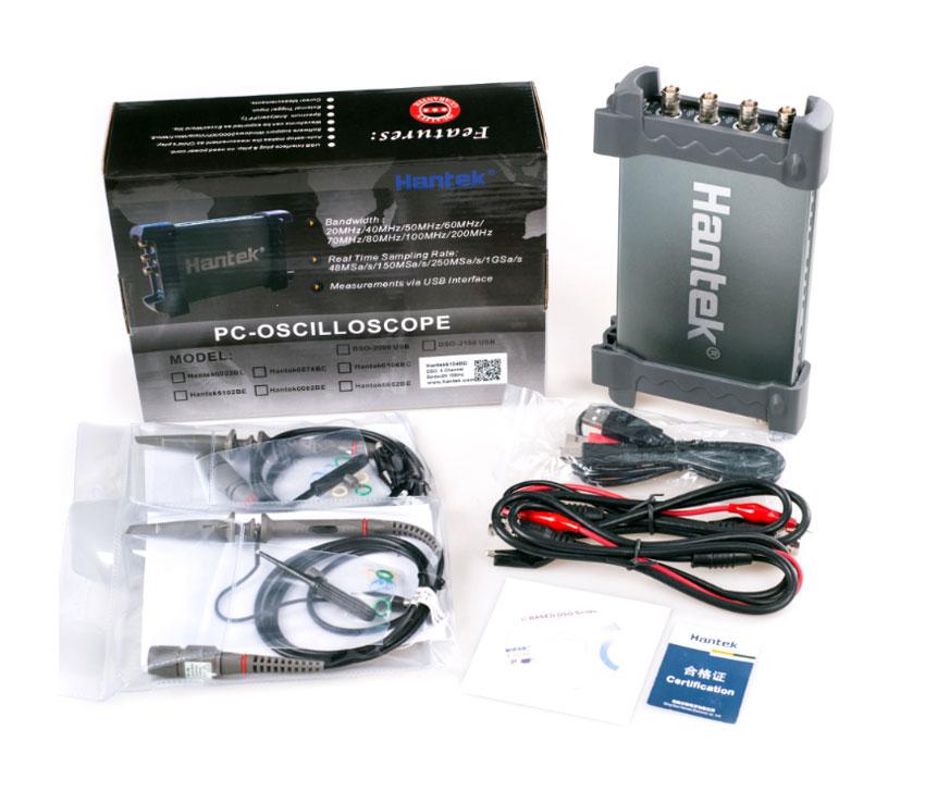 Hantek6254BC oscyloskop cyfrowy USB czterokanałowy 4x250MHz DSO