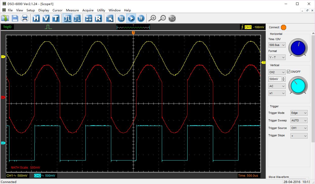 Hantek6254BD oscyloskop cyfrowy USB czterokanałowy 4x250MHz DSO generator DDS