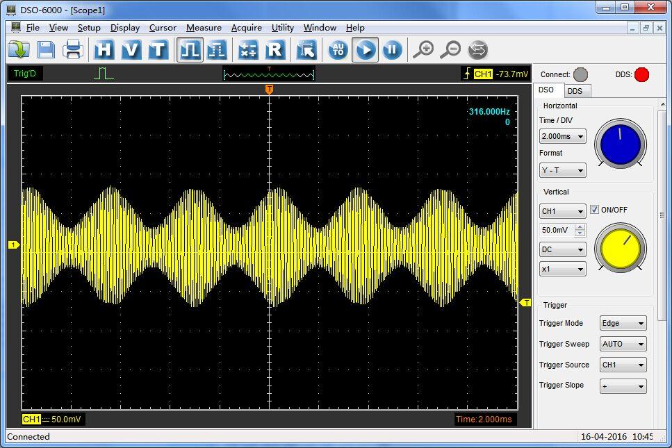 Hantek6204BD oscyloskop cyfrowy USB czterokanałowy 4x200MHz DSO generator DDS
