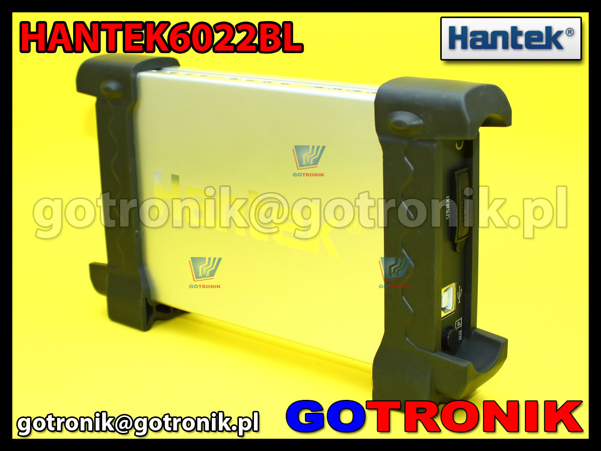 Hantek6022BL oscyloskop cyfrowy 2x20MHz + 16 kanałowy analizator stanów logicznych