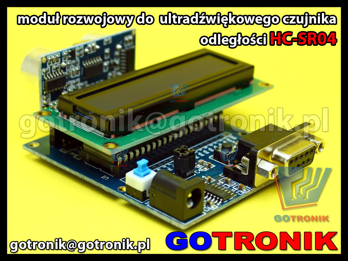 mikroprocesorowy zestaw rozwojowy dla ultradźwiękowego czujnika odległości HC-SR04