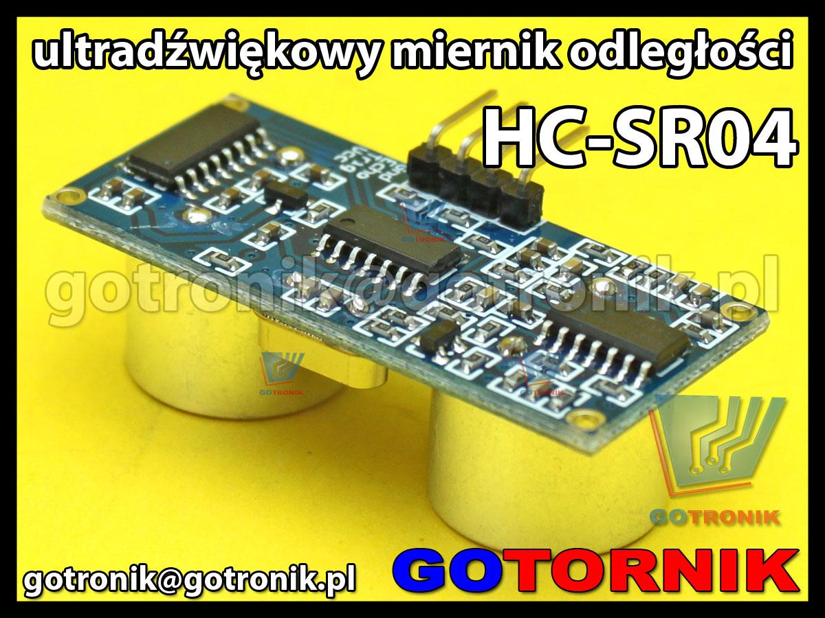 Ultradźwiękowy miernik odległości HC-SR04 do zastosowań w Arduino AVR ARM PIC