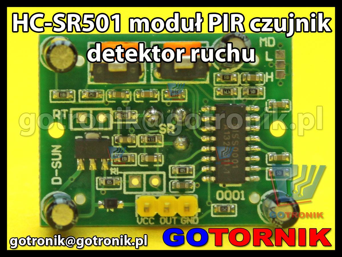 Moduł PIR czujnik detektor ruchu HC-SR501