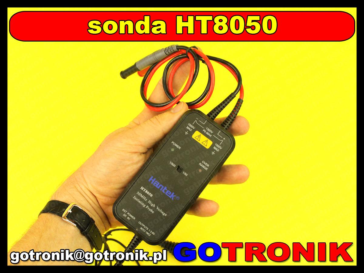 HT8050 Hantek izolowana sonda oscyloskopowa rożnicowa wysokonapięciowa
