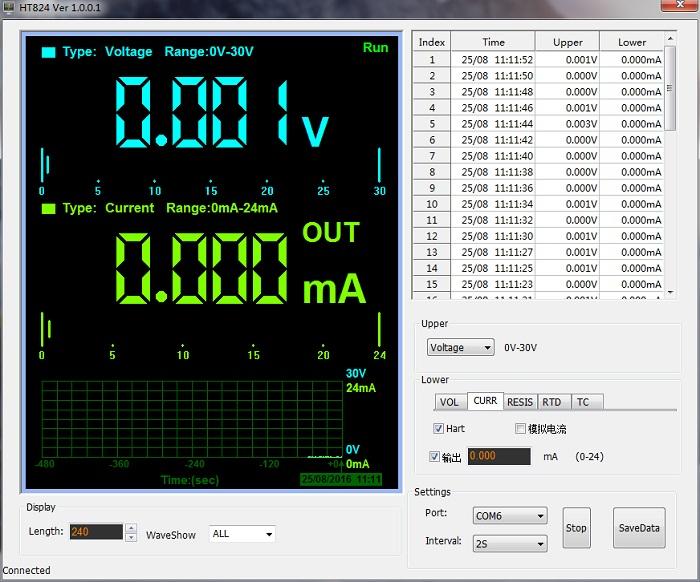 HT842 hantek kalibrator wielofunkcyjny oprogramowanie sterujące USB Windows