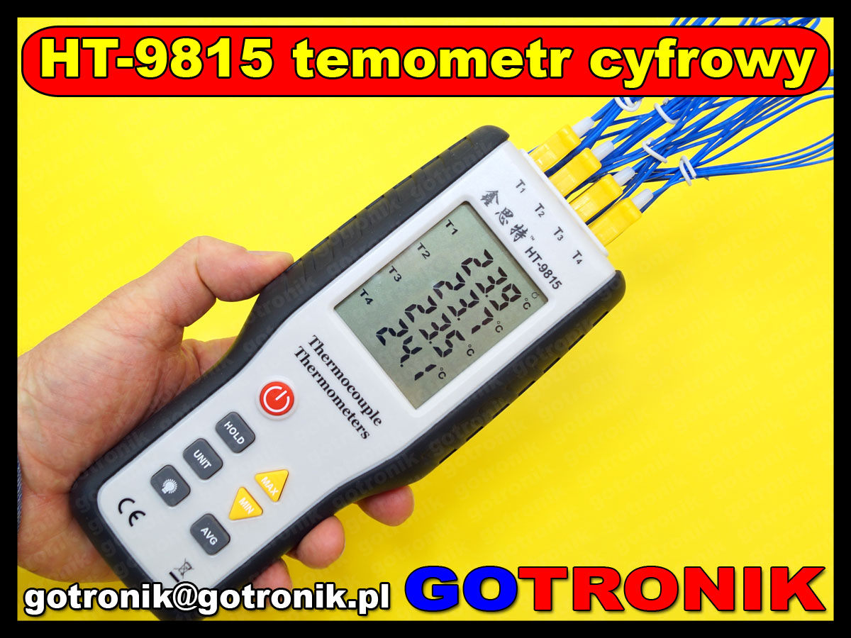 Termometr cyfrowy HT9815 HT-9815 termopara typ K