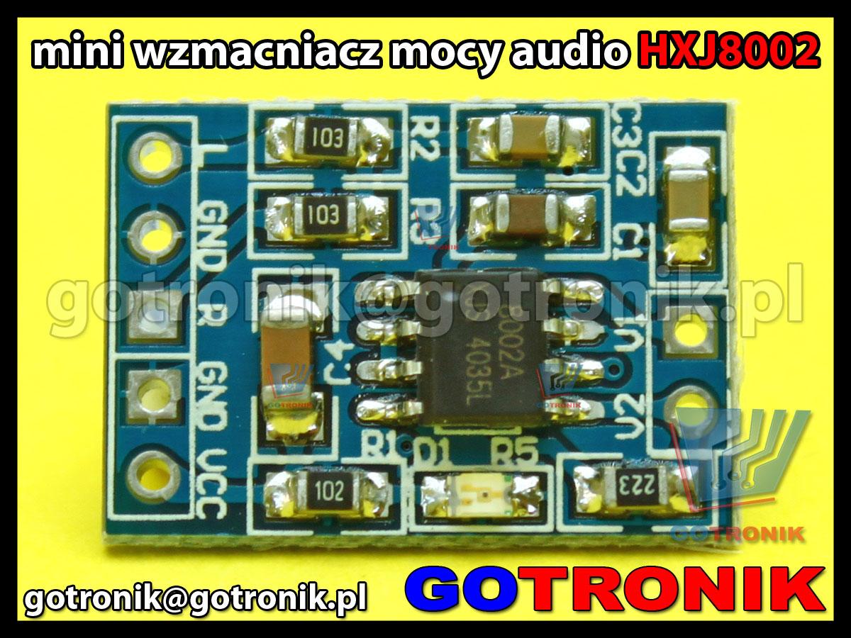 Moduł wzmaczniacza mocy audio HXJ8002