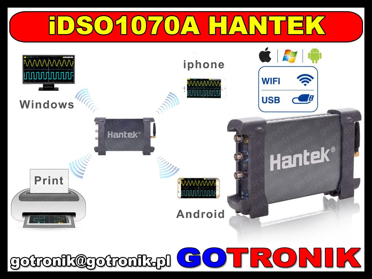 iDSO Hantek USB WiFI oscyloskop cyfrowy 2x70MHz