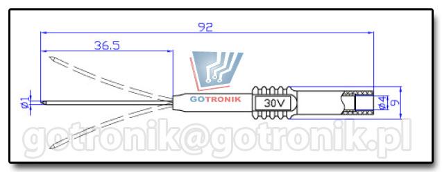 Elastyczna Elastyczna igła pomiarowa, sonda ostrowa do nakłówania izolacji, pomiarów SMD