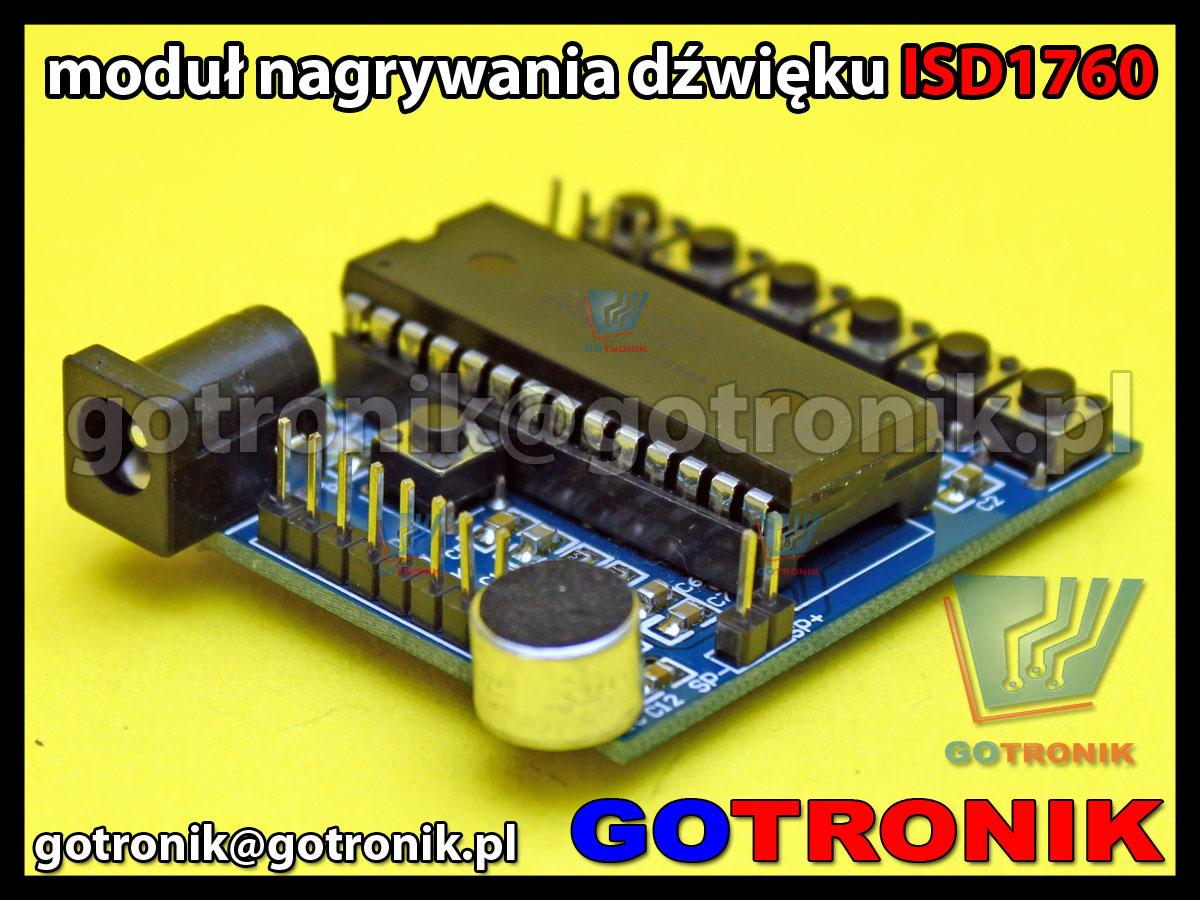 Moduł odtwarzacza dźwięków ISD1760 - magnetofon cyfrowy