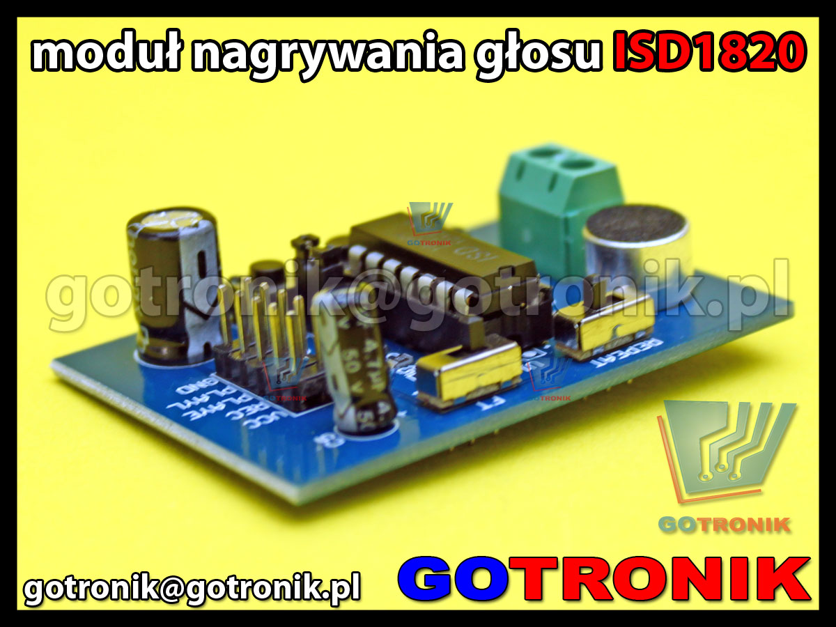 moduł odtwarzacza dźwięków ISD1820