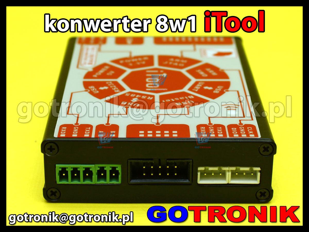 iTool - multi konwerter 8w1 z USB na UART, USB Blaster, RS485, RS232, zasilacz 5V, zasilacz 3,3V, ARM JTAG, ARM SWD