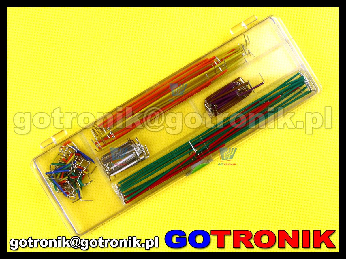 Przewody połączeniowe zworki druciki do płytek stykowych prototypowych 140 sztuk zestaw
