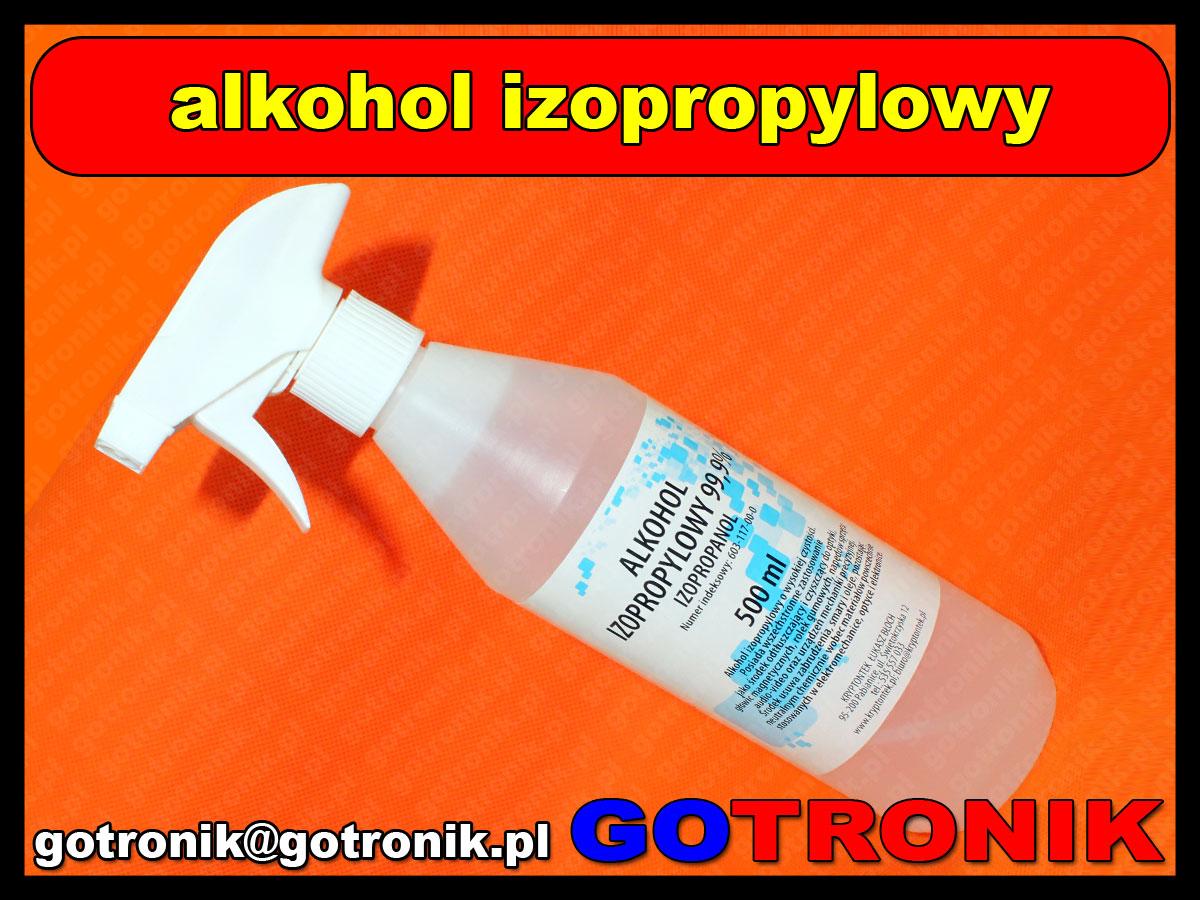 alkohol izopropylowy 99,9% 0,5 litra ze spryskiwaczem 500ml ipa