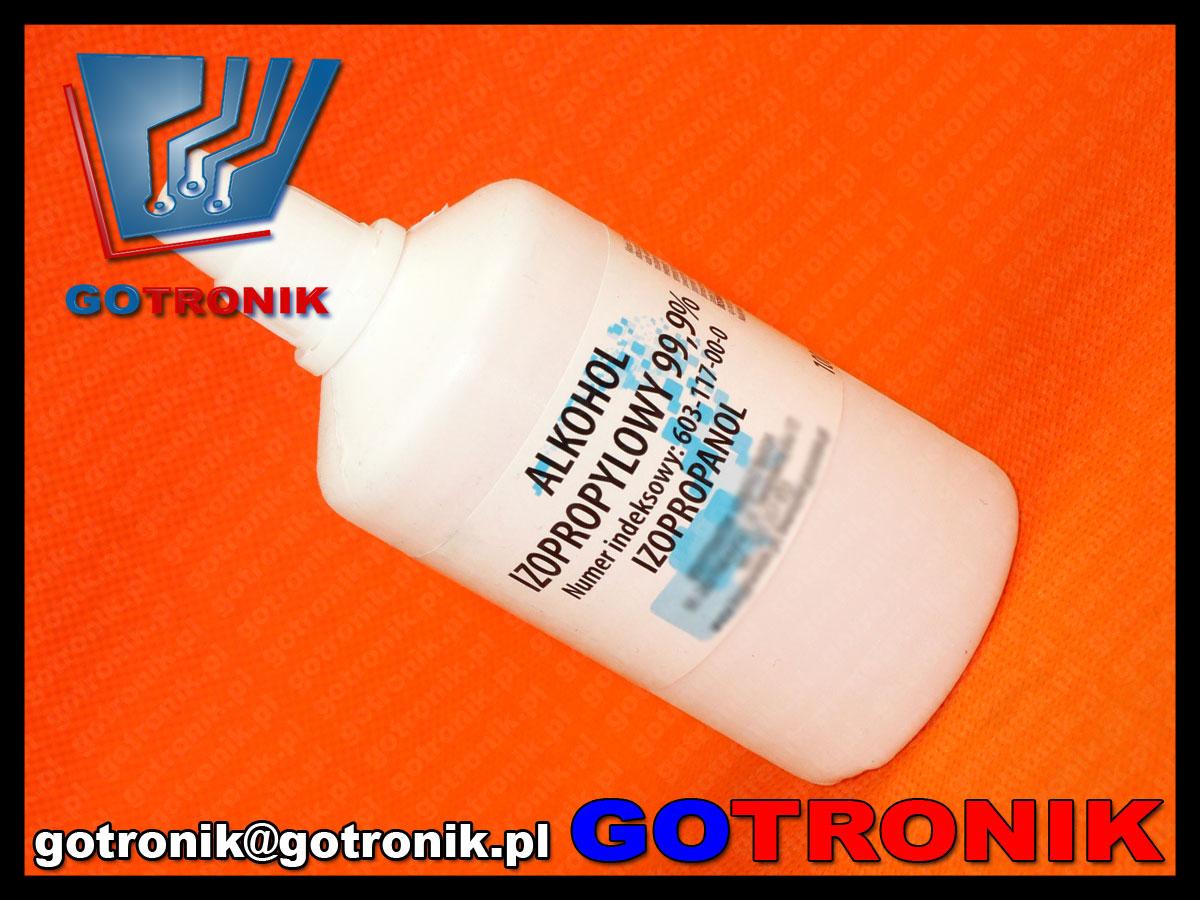 alkohol izopropylowy 99,9% 0,1 litra z zakraplaczem ipa 100ml