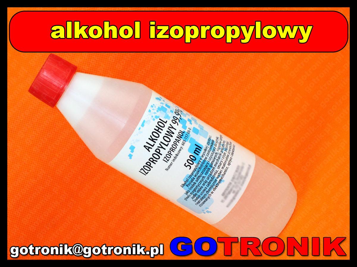alkohol izopropylowy 99,9% 0,5 litra z zakrętką bezpieczeństwa 500ml ipa