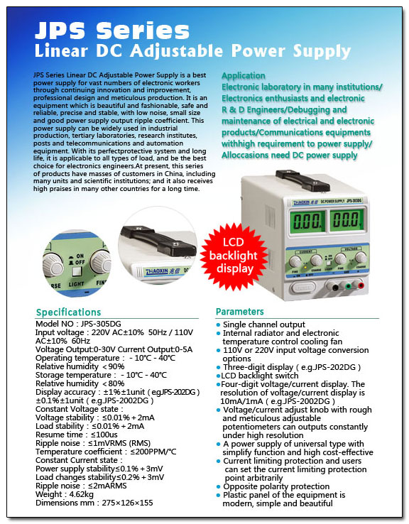 Karta katalogowa Zasilacz JPS305DG Zhaoxin