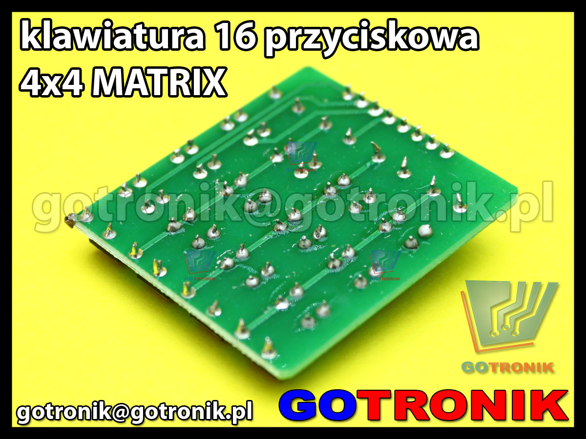 Moduł klawiatury 16 przyciskowej 4x4 MATRIX