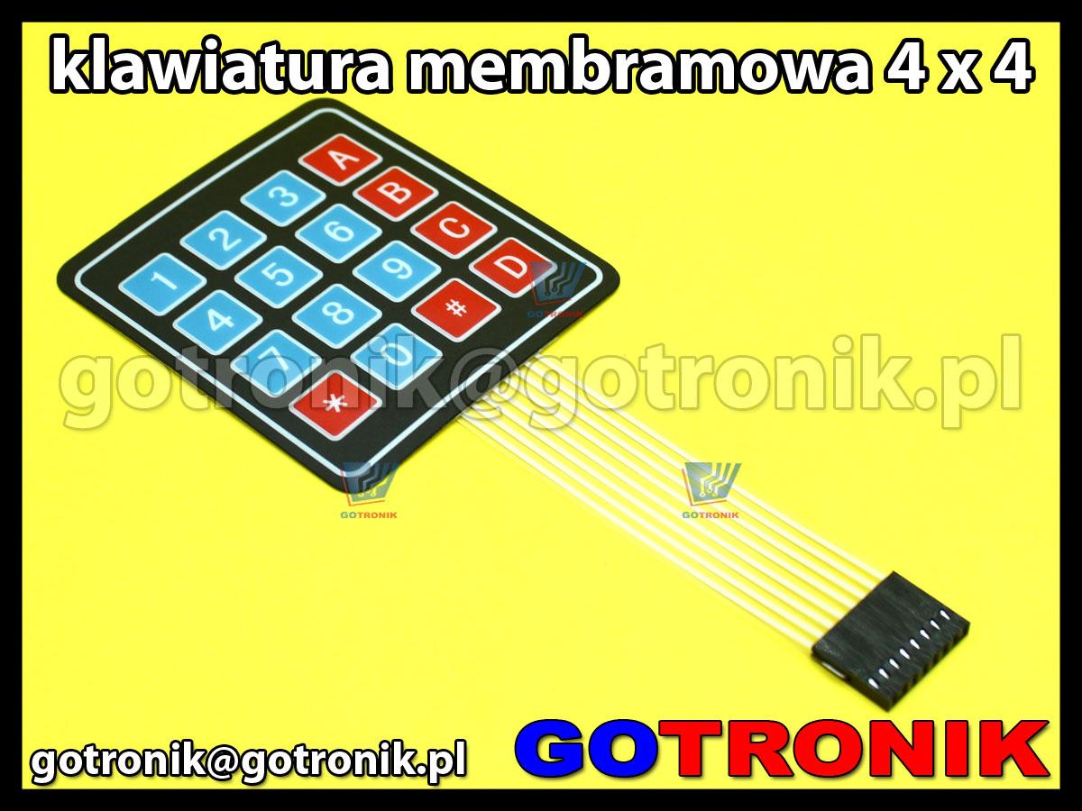 Klawiatura membranowa 4x4 16 klawiszy Matrix przycisków do zastosowań Arduino, MCU, ARM, AVR, PIC, Raspberry Pi