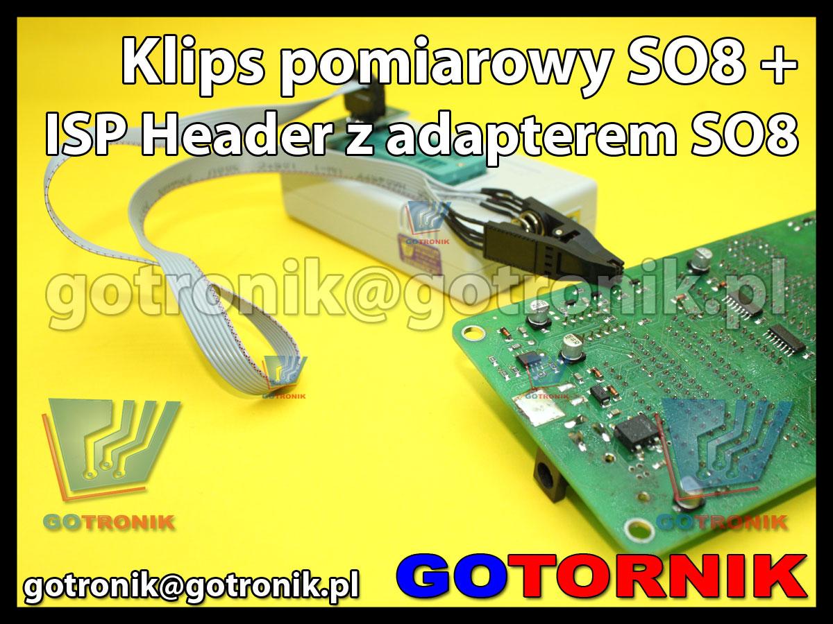 Klips SO8/SOIC8 do programowania w układzie + ISP Header