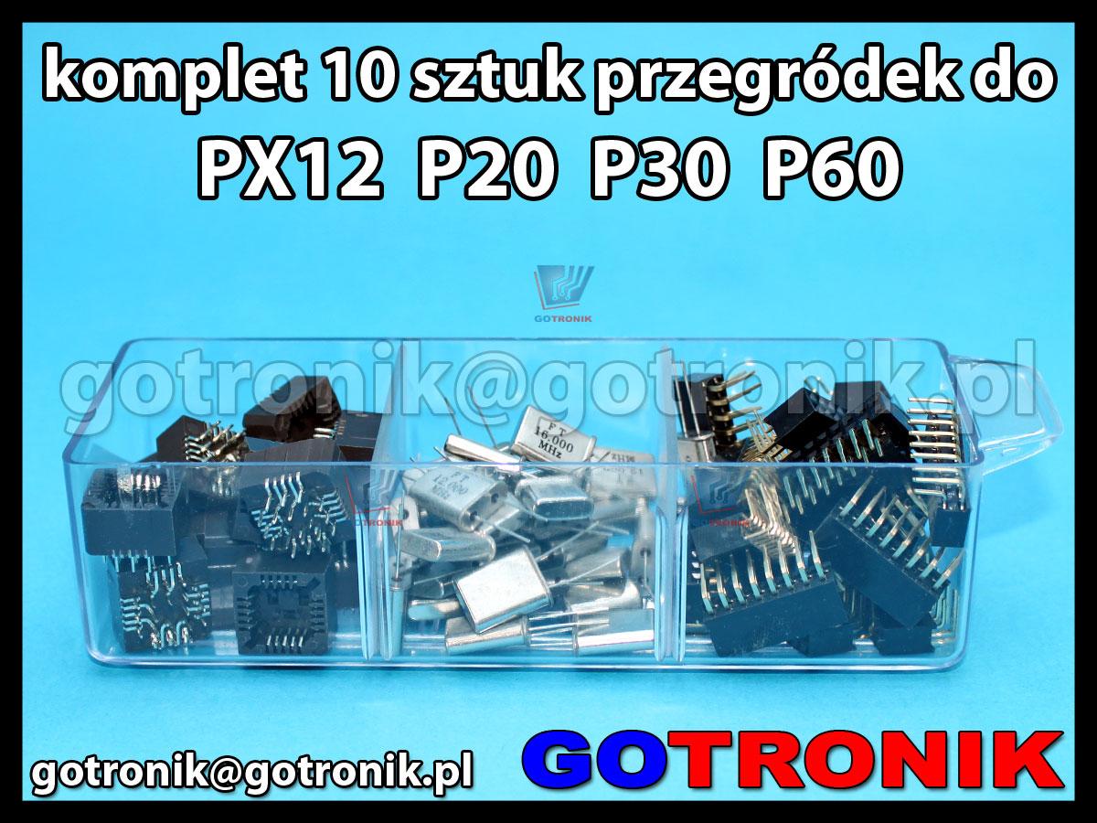 Komplet 10 sztuk przegródek do szufladek P20 P30 P60 PX12