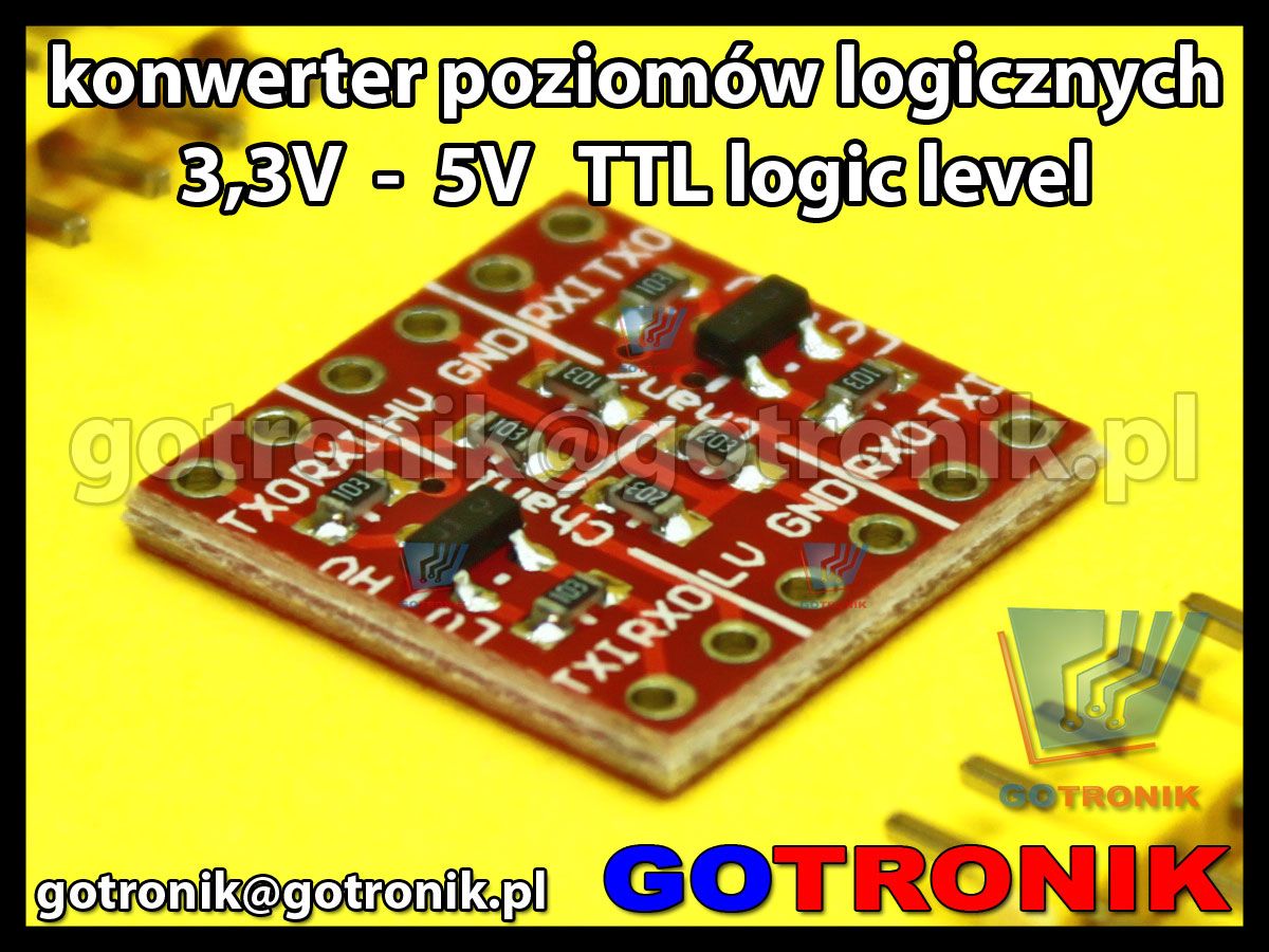 Konwerter poziomów stanów logicznych 3,3V 5V TTL Logic