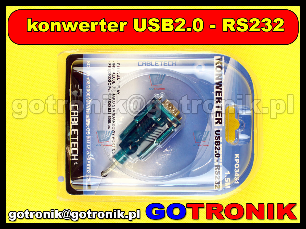 Kabel konwerter USB 2.0 - RS232