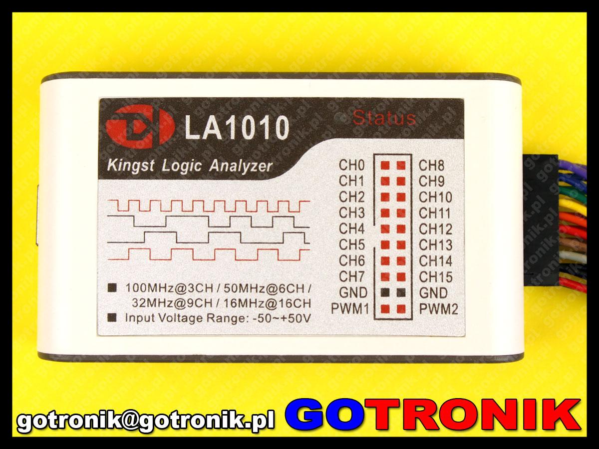LA1010 - analizator stanów logicznych 16 kanałowy