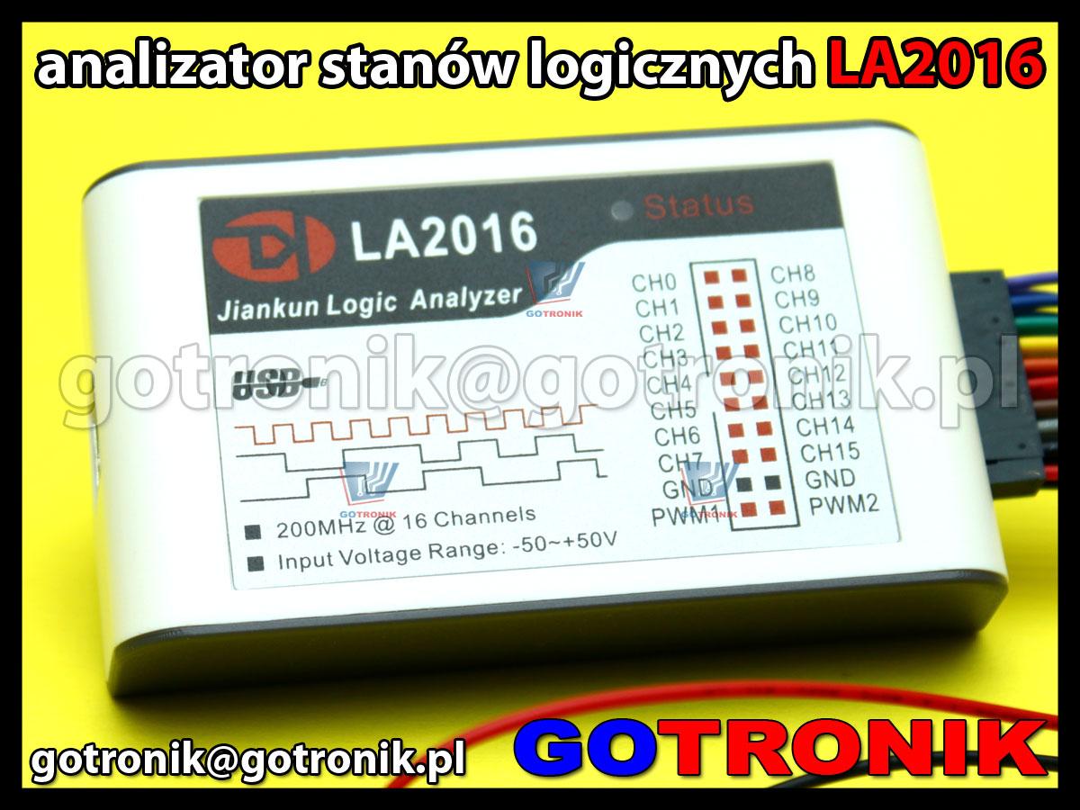 LA2016 - analizator stanów logicznych 16 kanałowy