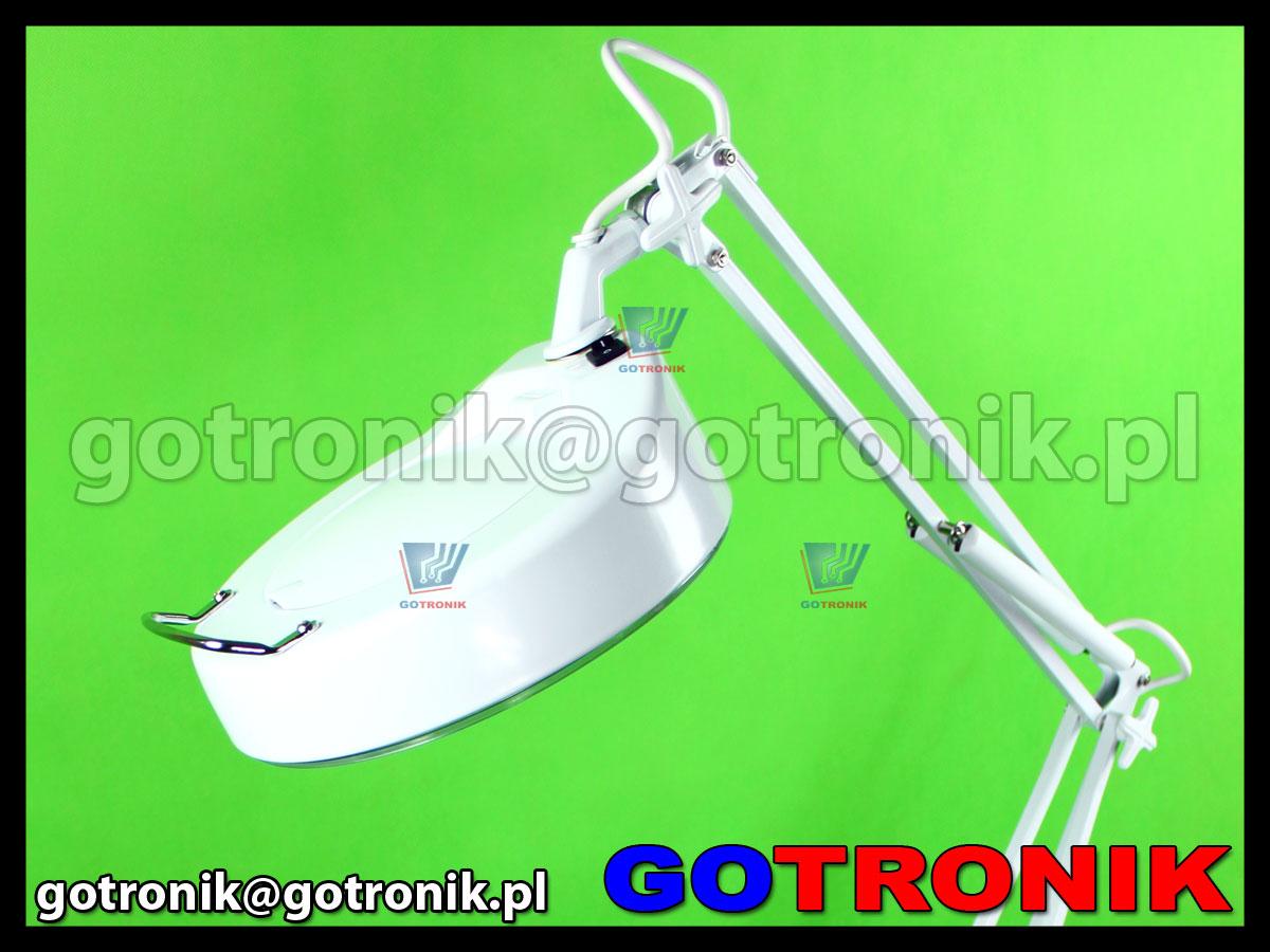 Lampa 8064d z lupą 3D na stawywie na kółkach